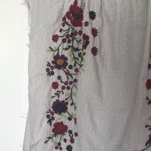 Sundance Tops - Sundance Embroidered Peasant Top Size Large
